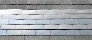 Thin film roof tiles.