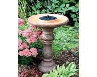 San Remo Solar Birdbath-Fountain